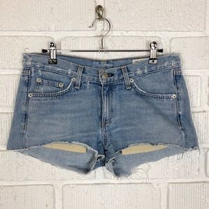 RAG & BONE ultra distressed cut off jean shorts 26